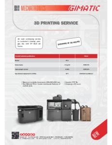 3D PRINTING SERVICE – 3M – 3L