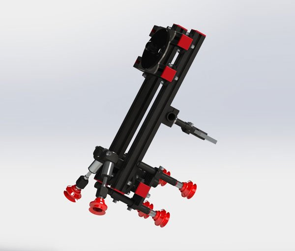 Customized gripper hands for Automation process.